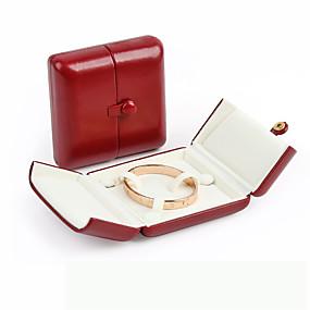 cheap Accessories-Jewelry Displays - Leather Red, Dark Navy 8 cm 7 cm 7 cm