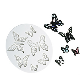 cheap Decorating Tools-different shape butterfly pattern chocolate mold fondant cake silicone mold home baking tools