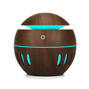cheap Household Appliances-130ML Wood Grain Office Home Aroma Essential Oil Diffuser Mist Humidifier Air Purifier Storage Cabinets