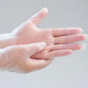 halpa Uutuudet-100kpl kertakäyttöiset lateksikäsineet valkoiset liukumattomat kumilateksihansikkaat kotitalouksien puhdistusaineet l koko