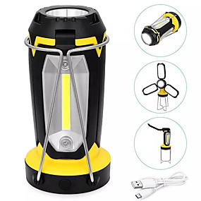 cheap LED Camping Lights-ZDM 5W 270LM COB 2000mAh Rechargeable Multifunctional Lantern LED Flashlight Outdoor Lights Work Light with USB Interface