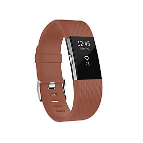cheap Smartwatch Accessories-Watch Band for Fitbit Charge 2 Fitbit Classic Buckle Silicone Wrist Strap