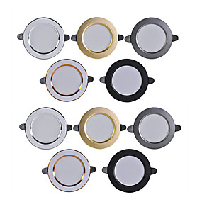 cheap LED Recessed Lights-10pcs Downlight 3W Spot Led Lights 3000k 4500K 6000K AC 220V-240V led Downlight Kitchen Living Room Indoor Recessed Lighting