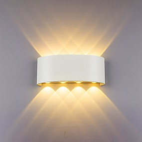 cheap Indoor Wall Lights-Wall Lamp Led Aluminum Outdoor Indoor Ip65 Up Down White Black Modern For Home Stairs Bedroom Bedside Bathroom Light