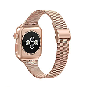 cheap Smartwatch Bands-Milanese Strap For Apple Watch IWatch 5 Band 42/44MM 38/40MM Band Stainless Strap