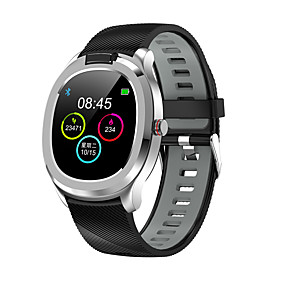 cheap Smart Watches-T01 Unisex Smartwatch Bluetooth Waterproof Touch Screen Blood Pressure Measurement Sports Long Standby ECG+PPG Pedometer Activity Tracker Sleep Tracker Sedentary Reminder / Thermometer