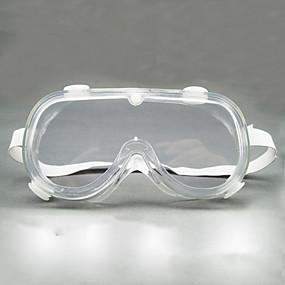 billige Personlig beskyttelse-støvbeskyttede tåkesbriller ingen dødvinkelbriller antisprut unisex all-round lukkede briller av typen
