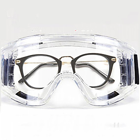 رخيصةأون حماية شخصية-نظارات كبيرة مغلقة / مكافحة الضباب مكافحة ترشيش مكافحة الضباب / شاملة للجميع واقية من الغبار ونظارات واقية من الرياح / نظارات يمكن ارتداؤها