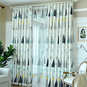 cheap Curtains & Drapes-Gyrohome 1PC GYC2260 Nordic Tree Shading High Blackout Curtain Drape Window Home Balcony Dec Children Door *Customizable* Living Room Bedroom Dining Room
