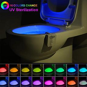 cheap Personal Protection-ZDM 16 color 1W Human Body Induction UV Automatic Sterilization Toilet LED Night Light UV Toilet Waterproof Sterilization Lamp