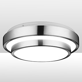 cheap Dimmable Ceiling Lights-1-Light 30cm LED Flush Mount Lights Aluminum Electroplated 90-240V