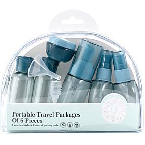 cheap Travel Health-6pcs Travel Bottle PP (Polypropylene) Waterproof Casual Daily
