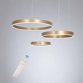 billige Klyngedesign-led90w pendellampe moderne lamper gullmalt aluminiums sirkelbelysning for spisestue stue