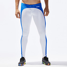 cheap Men's Activewear-TAUWELL Men's Running Tights Leggings Compression Pants Sports & Outdoor Underwear Leggings Bottoms Patchwork Elastane Winter Fitness Gym Workout Running Jogging Moisture Wicking Soft Compression