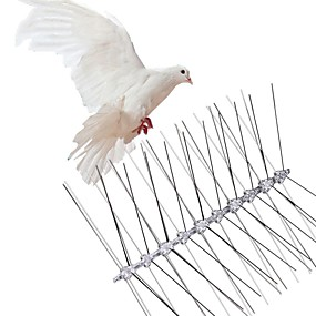 cheap Smart Home-Stainless Steel Bird Repellent Spikes Anti Pigeon Nail Bird Deterrent Tool Pest Control Pigeons Owl Small Birds Fence Repeller