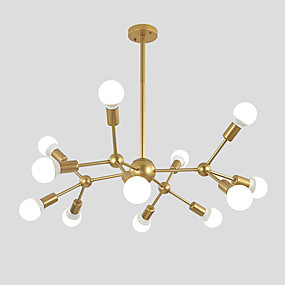 cheap Shop Lighting by Room-Chandelier Ambient Light Painted Finishes Metal Sputnik Design, Cluster Design 110-120V / 220-240V