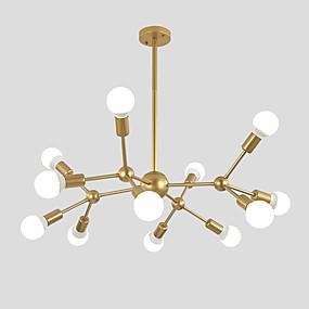 رخيصةأون تسوق الإضاءة حسب الغرفة-ضوء الثريا المحيط رسمت التشطيبات تصميم sputnik المعدنية ، وتصميم العنقودية 110-120v / 220-240v