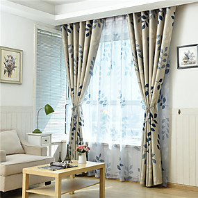 cheap Curtains & Drapes-Gyrohome 1PC GYC2146 Rural Spring Shading High Blackout Curtain Drape Window Home Balcony Dec Children Door *Customizable* Living Room Bedroom Dining Room