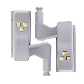 cheap LED Cabinet Lights-2 Pieces Mechanical Induction LED Hinge Light Under Cabinet Lighting 0.25W Kitchen Furniture Bedroom Closet Door Application LED Hinge Light