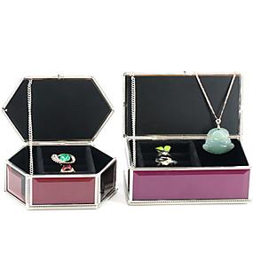 cheap Accessories-Square Jewelry Box - Silver, White 8.7 cm 13.3 cm 6.2 cm / Women's