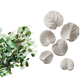 cheap Kitchen-Baking Tools Fondant Silicone Mold Petal Leaf Copper Coin Grass Eucalyptus Universal Leaf Set Compression Mold