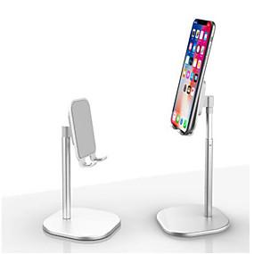 billige Telefonstativer og -holdere-aluminiumslegering bordstativ teleskopisk metallbordbrakett universal mobiltelefonholder 360 graders rotasjon