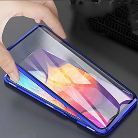 cheap Samsung Case-Magnetic Case For Samsung Galaxy A51 / M40S / A71 Double Sided Case Shockproof / Water Resistant / Transparent Tempered Glass Case For Samsung Galaxy S20 Plus / Note 10 Plus / S10 Plus / S20 Ultra