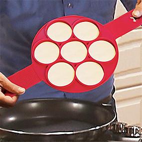 cheap Kitchen-1pcs Porous Pancake Omelette 7 Holes Cake Mold Silicone