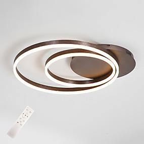 preiswerte Deckenlichter & Ventilatoren-moderne deckenleuchte 2 led ringe led bündige beleuchtung für wohnzimmer schlafzimmer küchenlampe 45cm