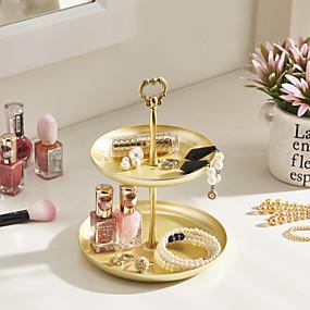 cheap Accessories-Round Jewelry Displays - Gold 16.2 cm 16.2 cm 20.5 cm / Women's