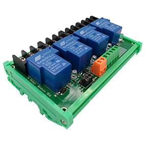 cheap Relays-4  Way 5V Relay Module 30A High And Low Level Trigger Intelligent Home PLC Automatic Control