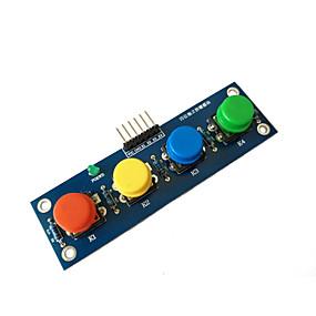 Недорогие Выключатели-четыре заглушки с кнопочным модулем независимой кнопки электронного модуля MCU