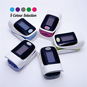 cheap Stay Home-OLED Display Finger Fingertip Blood Pulse Oximeter Medical Heart Rate Monitor Fingertip Pulse Oximeter Blood Pressure Monitor Random Color