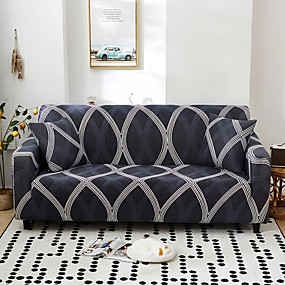 cheap Slipcovers-Nordic Geometric Contrast Elastic Sofa Cover Full Package Single Double Three Person Sofa Cover