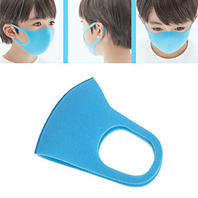 cheap Personal Protection-3Pcs Children Dustproof Breathable Mouth Face Mask Cotton Women Men Child Sponge Face Mask Reusable Anti Pollution Face Shield Wind Proof