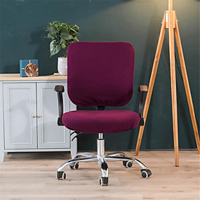 cheap Slipcovers-Solid Computer Office Chair Cover Split Protective & Stretchable Cloth Polyester Universal Desk Task Chair Chair Covers Stretch Thicken Rotating Chair Slipcover