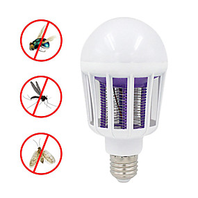 cheap Home Security System-220V 240V E27 LED Mosquito Killer Lamp 9W 2 In 1 LED Ball Nigh Light Anti Repellent Fly Bug Zapper Insect Killer LED UV Bulb