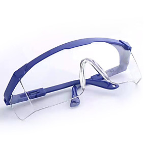 cheap Health Detective-Safety Glasses Protective Transparent Glasses Eyes Protection Anti dust Saliva Goggles Outdoor Safety Equipment