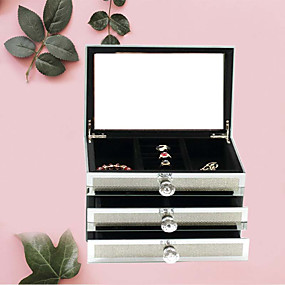 cheap Accessories-Jewelry Box - Silver 19.3 cm 25 cm 17 cm / Women's