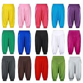 cheap Yoga & Fitness-Women's High Waist Yoga Pants Harem Bloomers Capri Pants Quick Dry White Black Purple Modal Zumba Fitness Gym Workout Plus Size Sports Activewear High Elasticity Loose / Burgundy / Royal Blue