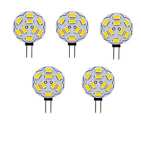 billige Elpærer-5pcs 1 W LED-lamper med G-sokkel 180 lm G4 T 9 LED perler SMD 5730 Varm hvit Kjølig hvit