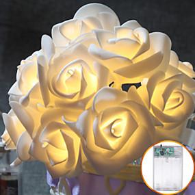 billige Lamper og belysning-3M Lysslynger 30 LED Varm hvit Kjølig hvit Rød Fest Dekorativ Jul Bryllup Dekorasjon AA batterier drevet