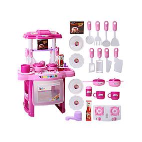 halpa Rooliasut ja pukeutumisleikit-Toy Kitchen Asettaa Leikkiruoka Muuttumisleikit PVC Lasten Poikien Tyttöjen Lelut Lahja