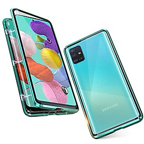 cheap Samsung Case-Magnetic Double Sided Case For Samsung Galaxy A81 / M60S / A11 / M31 Shockproof / Water Resistant / Transparent Tempered Glass / Metal Case For Samsung Galaxy S20 Plus /Note 10 Plus/M40S/A71/S20 Ultra