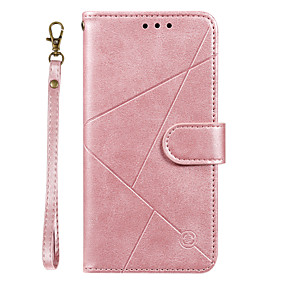 cheap Samsung Case-Case For Samsung Galaxy A20 / A20 Plus  A20 Ultra Wallet / Card Holder / with Stand Full Body Cases Lines Waves Solid Colored PU Leather for Galaxy A90 A80 A70 A60 A50 A30 A20 A20E M10 M20 Note10 Plus