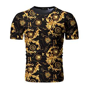 cheap Athleisure Wear-Men's T shirt Shirt Portrait Chains Print Print Short Sleeve Daily Tops Cotton Streetwear Punk & Gothic Round Neck Black