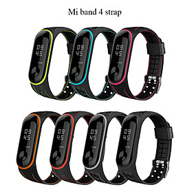 cheap Smartwatch Bands-Mi band 4 Strap correa mi band 3 breathable strap for xiaomi band 4 Multi colorful sports strap for xiaomi band 3
