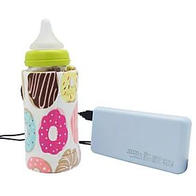 abordables Soins de bébé et fournitures de maternité-2 pcs USB lait chauffe-eau voyage poussette sac isolé bébé biberon chauffe-eau nouveau-né nourrisson biberon chauffe-aliments couleur aléatoire