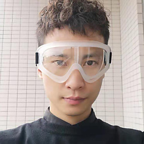 billige Personlig beskyttelse-gjennomsiktige beskyttelsesbriller ridebriller sikkerhetsbeskyttelse mot å spytte sprute arbeidsbeskyttelsesbriller vindtett støv og sand