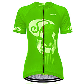 cheap Cycling & Motorcycling-21Grams Cat Animal Women's Short Sleeve Cycling Jersey - Blue Purple Red Bike Jersey Top Quick Dry Moisture Wicking Breathable Sports Summer Terylene Mountain Bike MTB Clothing Apparel / Athleisure